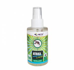 Sääsetõrje ja puugitõrjevahend - Ataka Mosquitoes & Ticks 100 ml